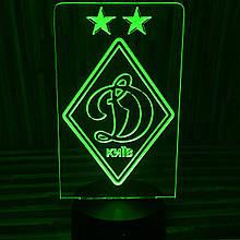 Акриловий світильник-нічник ФК Динамо зелений tty-n000158