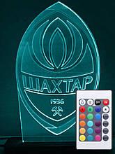 Акриловий світильник-нічник з пультом 16 кольорів ФК Шахтар tty-n000037