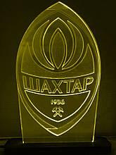 Акриловий світильник-нічник ФК Шахтар жовтий tty-n000141