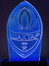 Акриловый светильник-ночник ФК Шахтер синий tty-n000143