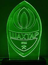 Акриловий світильник-нічник ФК Шахтар зелений tty-n000144