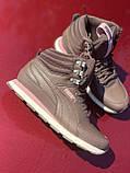 Высокие коричневые хайтопы, кроссовки puma оригинал, фото 3