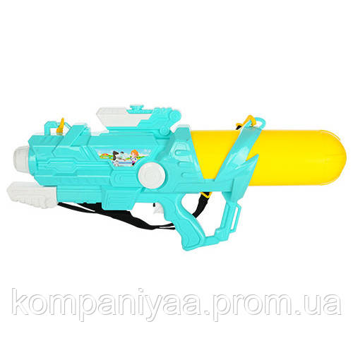 Детский водяной помповый автомат M 5411 65см (Бирюзово-Желтый)