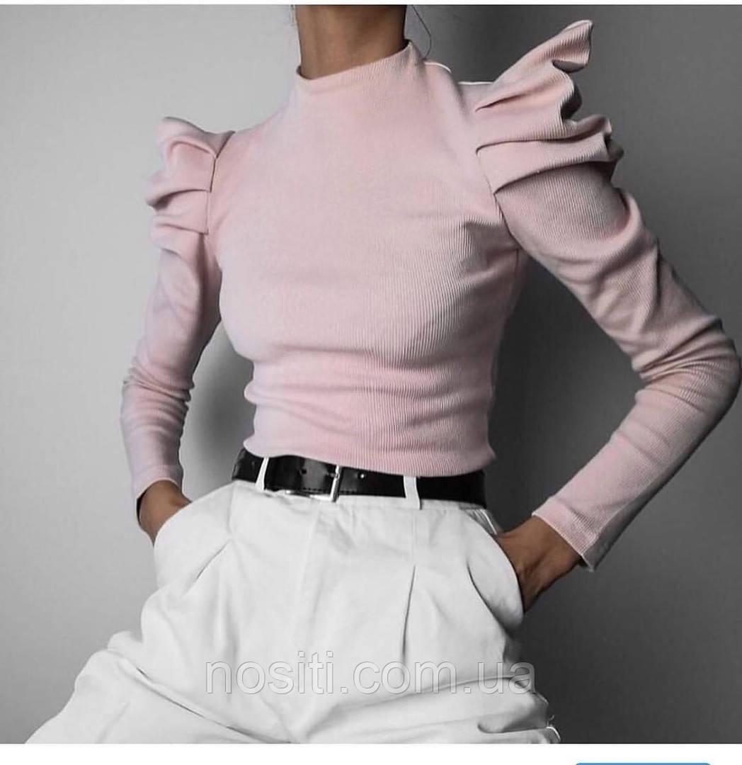 Женская кофта объемные плечи