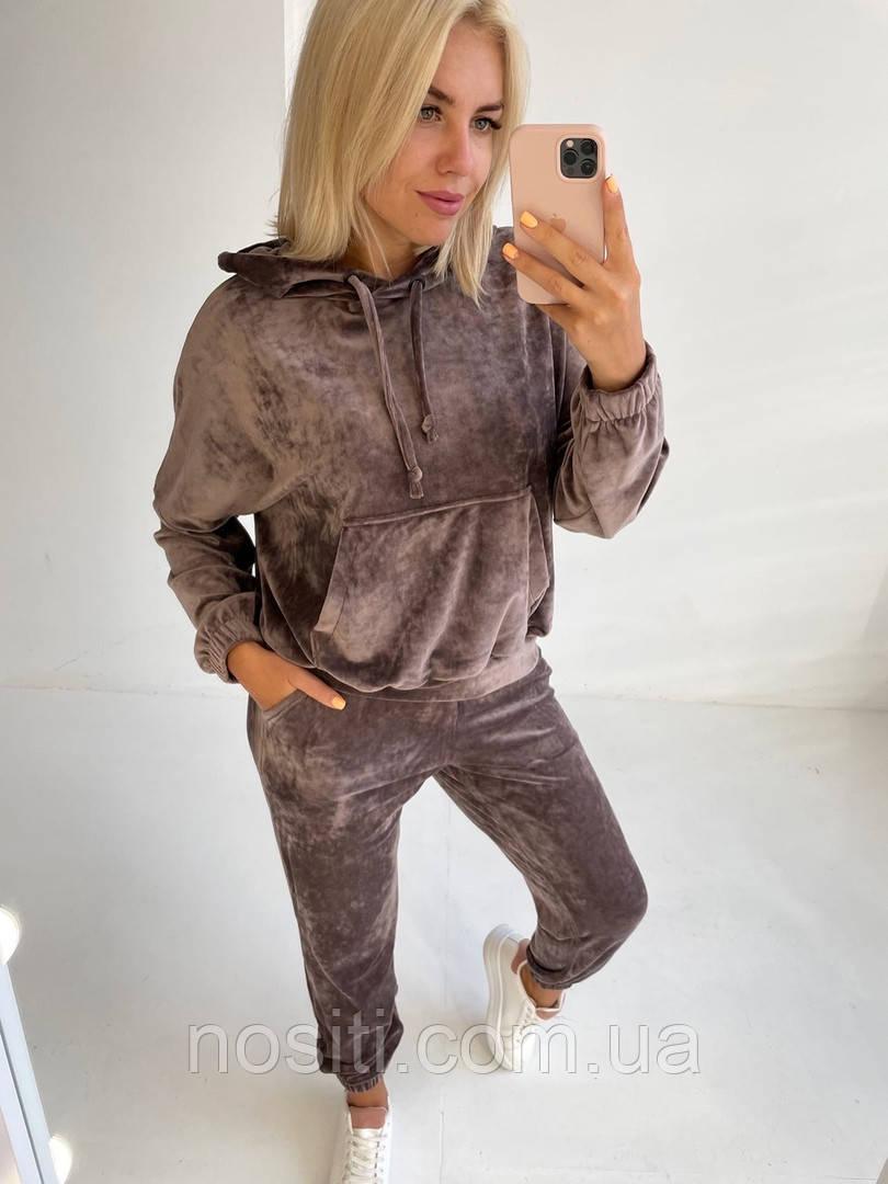 Женский спортивный костюм кофта кенгуру