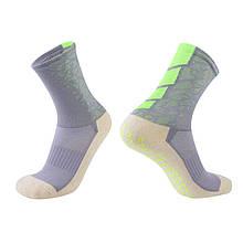 Тренировочные носки (серый-салатовый)
