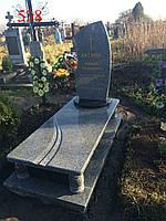 Пам'ятник з покостівського граніту та лабрадориту, фото 1