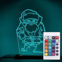 Акриловый светильник-ночник с пультом 16 цветов Святой Николай tty-n000040