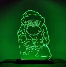 Акриловый светильник-ночник Святой Николай зеленый tty-n000017