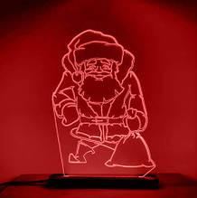 Акриловый светильник-ночник Святой Николай красный tty-n000020