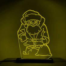 Акриловый светильник-ночник Святой Николай желтый tty-n000019