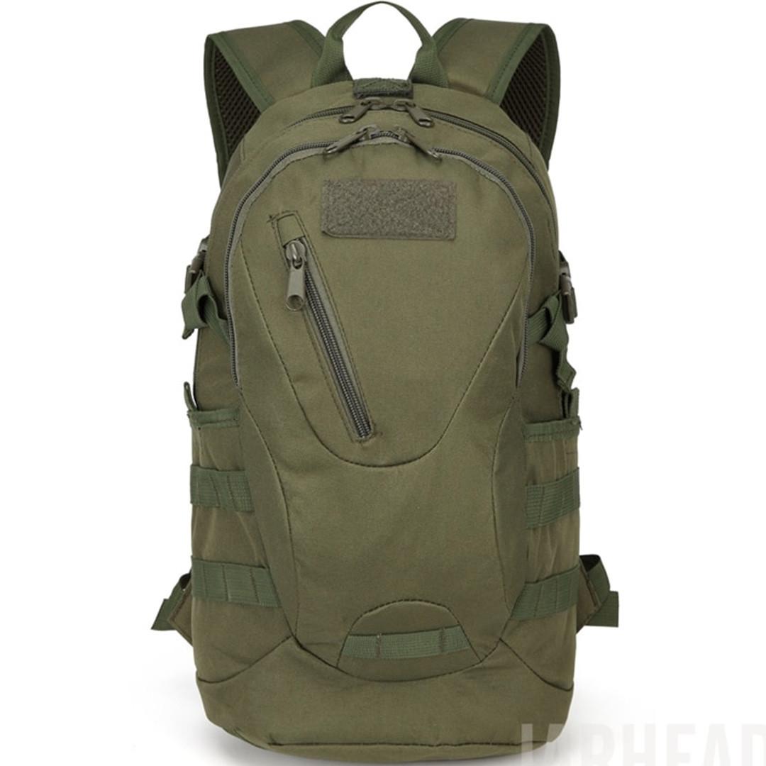 Рюкзак тактический Eagle M08G (штурмовой, военный) мужская сумка Оливковый 15 л. - фото 2