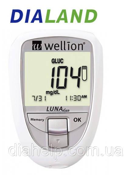 Глюкометр Веллион Луна Дуо (Wellion  LUNA Duo) без тест-полосок