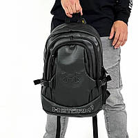 Рюкзак Under Armour мужской кожаный городской спортивный черный 20 литров андер армор