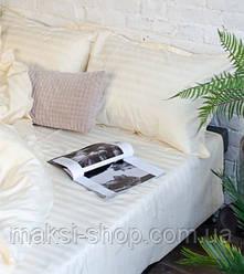 Евро комплект постельного белья страйп-сатин Bona Vita в подарочной коробке T-0290