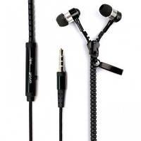 Наушники-змейка Zipper с микрофоном 3.5mm