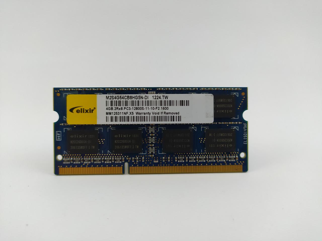 Оперативна пам'ять для ноутбука SODIMM Elixir DDR3 4Gb 1600MHz PC3-12800S (M2S4G64CB8HG5N-DI) Б/У