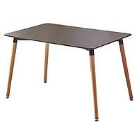 Обеденный стол Нури SDM прямоугольный 120*80 см Черный