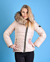 Куртка зимняя женская (42-48) с капюшоном, доставка по Украине