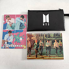 "Набір ""BTS"": щоденник, пенал, скетчбук"