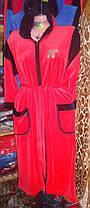 Велюровый  женский халат Батал, фото 2