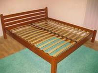 Двуспальная кровать «Ирель» из натурального дерева