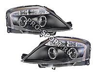 """Тюнинг Фары для Citroen C3 2002+ """"ангельские глазки"""", линза, черный"""
