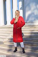 Кашемірове Пальто жіноче осіннє на підкладці прямого крою застібка блискавка довге за коліно р-ри 42-48, фото 1