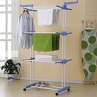 Многоярусная складная сушилка для белья, Универсальная сушилка для одежды напольная Garment Rack With Wheels