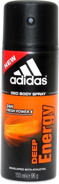 Спрей, дезодорант, Adidas, 3 pro, Deep, Energy