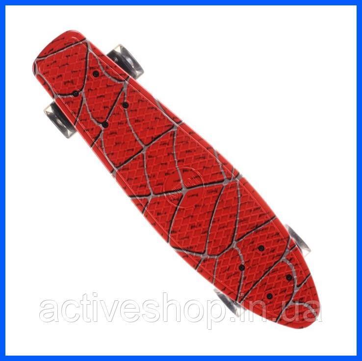 Скейт пенниборд скейтборд колёса PU СВЕТЯЩИЕСЯ Penny Board