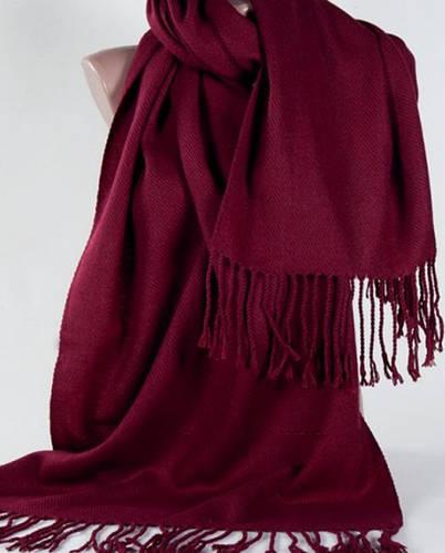 Широкий красный мягкий шарф из пашмины Traum 2493-40