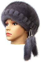 Женская  норковая шапка модель Стюардесса