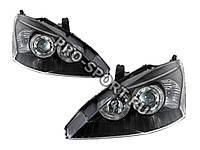 """Тюнинг Фары для Ford Focus 2001-2005  """"ангельские глазки"""", линза, черный"""