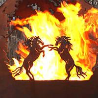 Уличный очаг Бегущие лошади (шар), 0,5 м, купить Киев