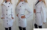 Пальто женское кашемировое по фигуре на пуговицах P457