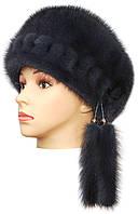 норковая женская шапка модель Стюардесса цвет  ирис