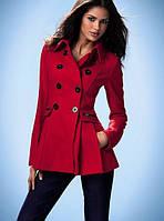Пальто женское короткое кашемировое приталенное P458, фото 1