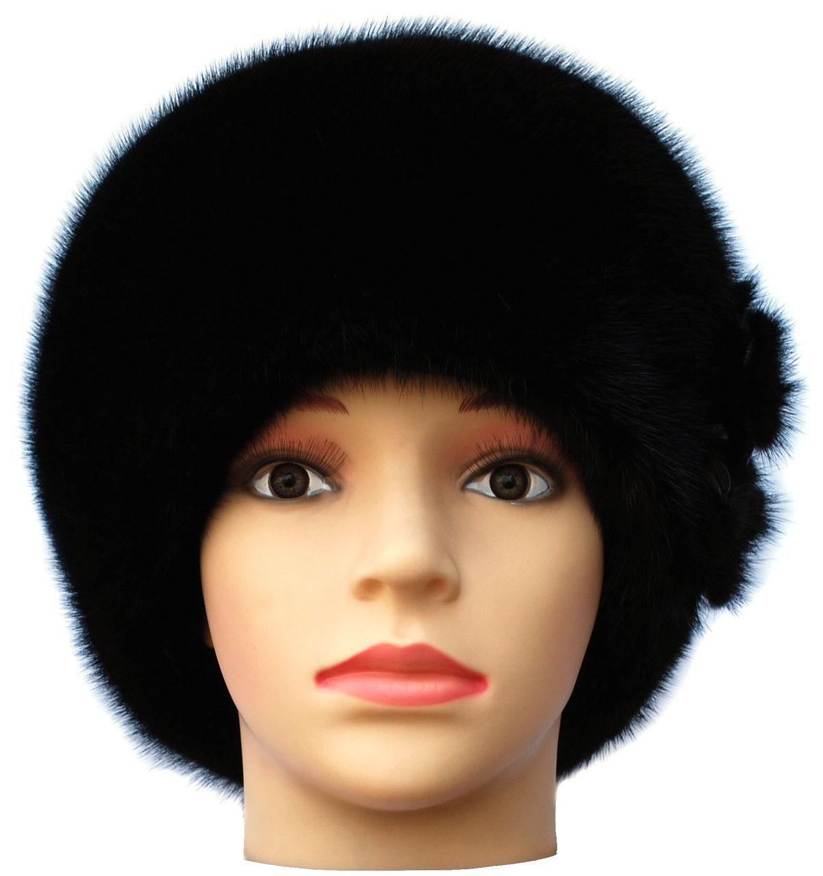 норковая  шапка модель Стюардесса цветок - ИНТЕРНЕТ МАГАЗИН       СТИЛЬ в Каменском