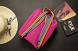 Рюкзак канкен kanken fjallraven школьный | портфель | ранец c радужными ручками, лямками 16л Малиновый, фото 5