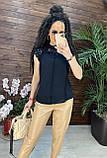 Женские красивая блузка без рукавов с кружевом, фото 2