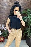 Женские красивая блузка без рукавов с кружевом, фото 3