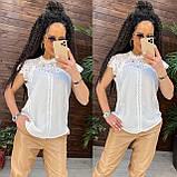 Женские красивая блузка без рукавов с кружевом, фото 5