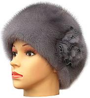 Норковая шапка модель Стюардесса цветок