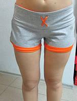 Женские шорты ADIDAS (412651-1) серо-оранжевые код 029 Б