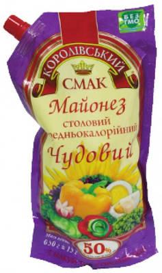 """Майонез ТМ """" Королівський Смак 50% 650 грам"""
