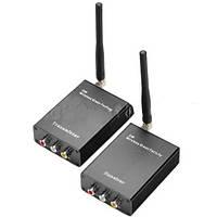 Передатчик + приемник аудио- видеосигнала 224 2W: подключение любых видеокамер, RCA разъем, антенна