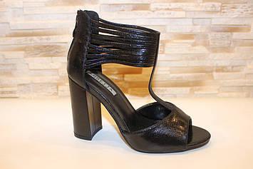 Босоножки женские черные на каблуке Б1243