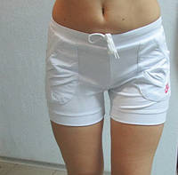 Женские шорты  (791) белые код 031 Б