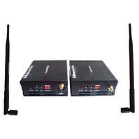 Беспроводной комплект: передатчик+приемник аудио/видеосигнала 243 3W с 4-мя частотными каналами